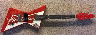 Budweiser Presenting Custom Guitar to Eagle Motorsports Rock 'N Roll 50 Presented by MyRacePass Feature Winner