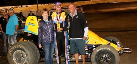 Hahn Handles USAC Southwest; Bayer Best POWRi West and Flud Capitalizes NOW600 during Topless at the Creek.