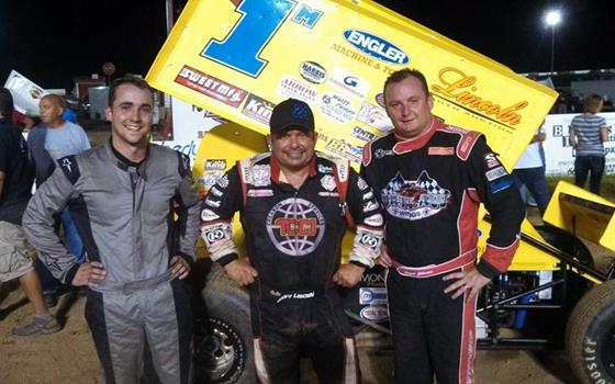 Danny Lasoski on top with ASCS Warriors at RCR
