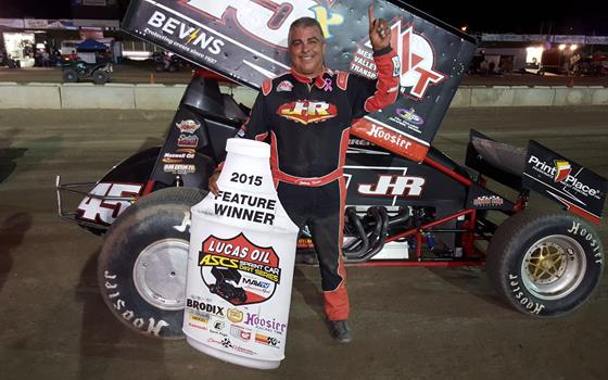 Johnny Herrera Parks it at the Black Hills Speedway