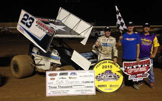 Seth Bergman Picks Up ASCS Gulf South Victory at Cotton Bowl Speedway