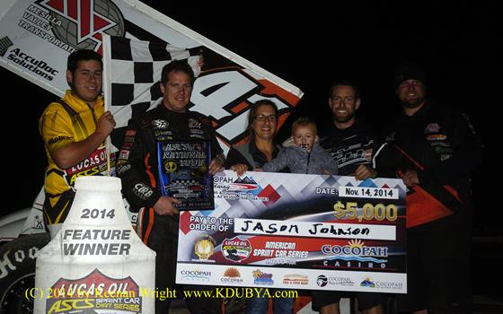 Jason Johnson Dominates Lucas Oil ASCS at Cocopah Speedway