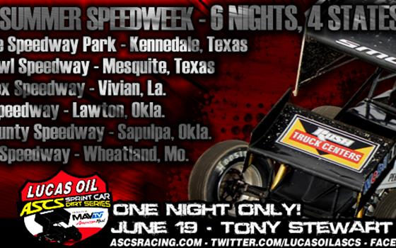 Need to know: 2013 Lucas Oil ASCS Speedweek