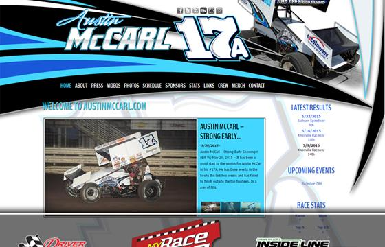 Driver Websites Revamps Website for Austin McCarl Racing