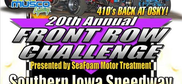 $20,000 to Win Front Row Challenge this Monday!!!