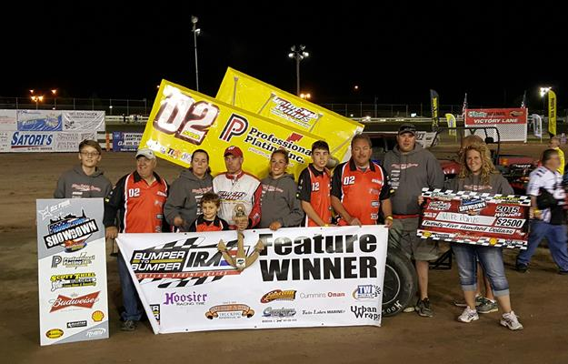 REINKE'S LATE RACE PASS STOPS SCHMIDT SWEEP IN BUMPER TO BUMPER IRA SPRINT ACTION AT MANITOWOC!