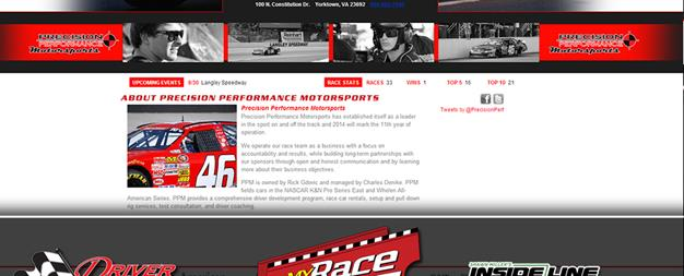 Driver Websites Creates New Website for Precision Performance Motorsports