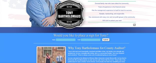 Driver Websites Builds New Website for Tony Bartholomaus