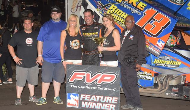 Mark Dobmeier Thunders to FVP National Sprint League Win at Huset's Speedway!