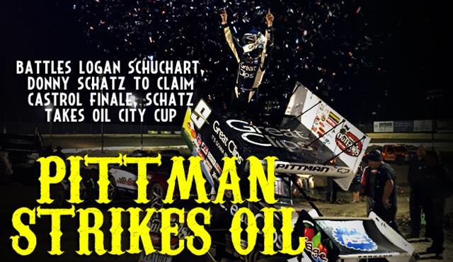 Pittman Holds off Schatz to Take Oil City Cup Finale at Castrol Raceway