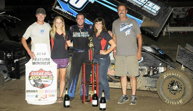 Sam Hafertepe, Jr. Triumphant in Lucas Oil ASCS Mid-South Showdown
