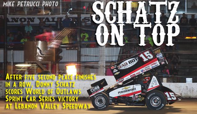 Schatz Back on Top with Lebanon Valley Speedway Win