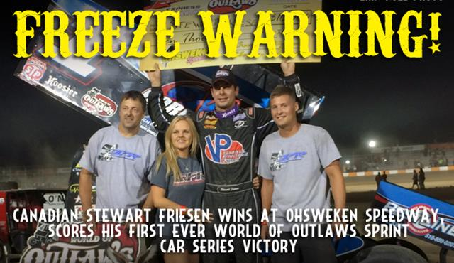 Stewart Friesen Scores Thrilling First Ever Outlaws Win