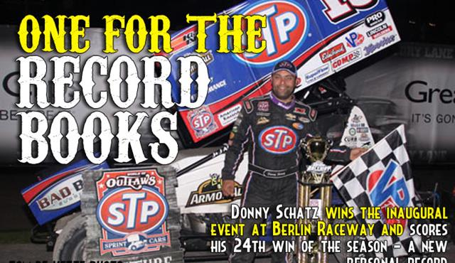 Donny Schatz Makes History at Berlin Raceway