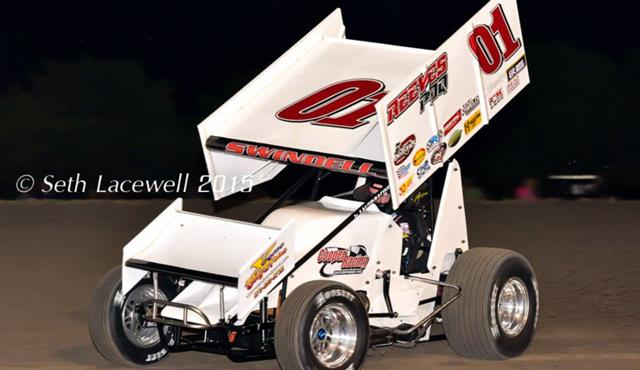 Swindell Claims First Winged Sprint Car Feature Win in Exactly One Year