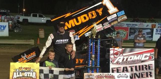 "Dale Blaney Wins ""Open Wheel Championship"" Worth $10,000 at Atomic Speedway!"
