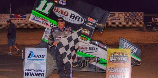 """King Kinser"" Wins Against the All Stars at I-96 Speedway and Ends Blaney's Win Streak"
