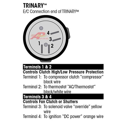 ap air inc trinary switch normally open female thread rh apairinc com vintage air trinary switch wiring diagram Thermostat Wiring Diagram