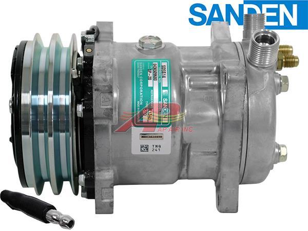AP Air Inc - OE Sanden Compressor - 132mm, 2 Groove Clutch