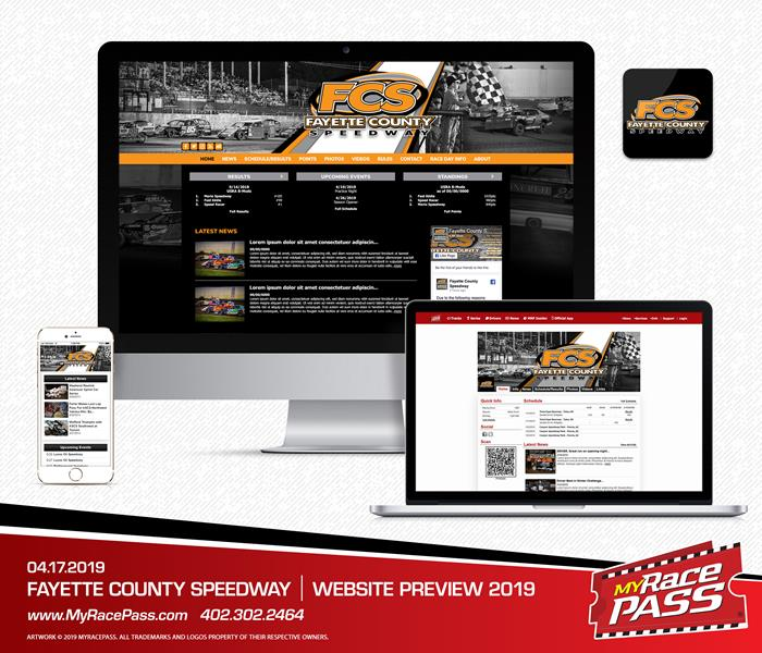 MyRacePass Creates New Track Website for Fayette County