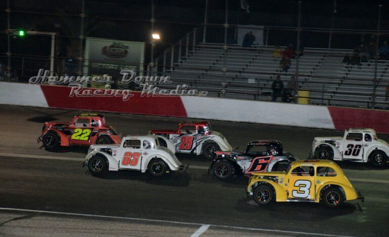 Darrell J  Stewart Sweeps Tucson Speedway Legends Events in