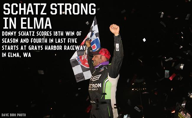 Donny Schatz Scores 18th Victory of 2018 at Grays Harbor