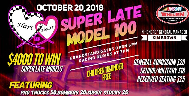 Hart to Heart Super Late Model 100 - MyRacePass | Online