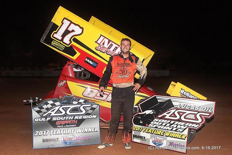 Tankersley Produces ASCS Gulf South Region Win for Seventh Straight