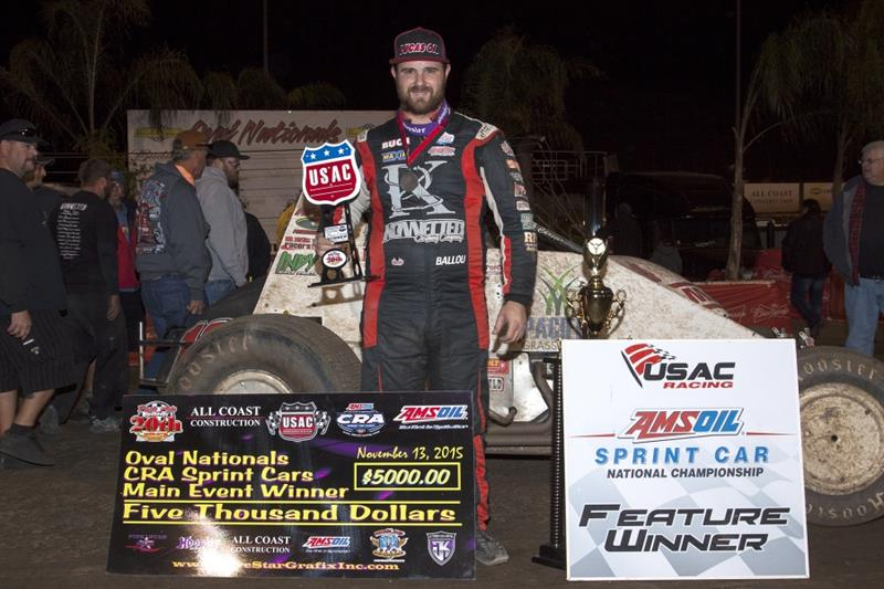 Ballou's Perris Streak Continues with Friday Oval Nationals