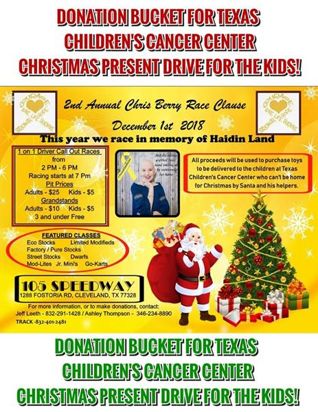 Texas Children's Cancer Center Christmas Present Drive at Expo & 105