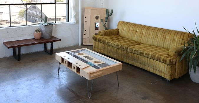 A SIDE: The Original Cassette Tape Coffee Table