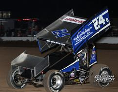 Sams III Ties Second-Best Result of ASCS National Tour Season During First Trip to I-80 Speedway