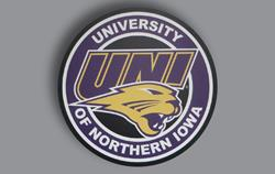 Hard Thick Plastic WinCraft Northern Iowa UNI Panthers Auto Badge Emblem