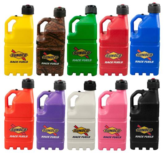 Sunoco 5 Gallon Race Fuel Jugs - Circle Track and Oval Track