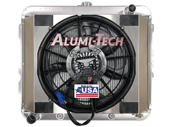 Mopar B & E Body Alumi-Tech Aluminum Radiator w/ Brushless