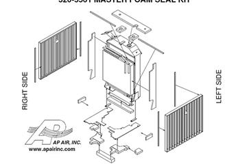 SEAL KIT-RADIATOR SIDE AIR