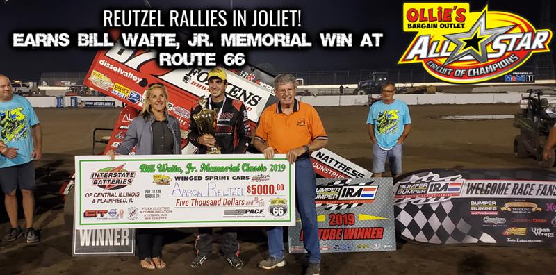 Aaron Reutzel rallies from ninth to win Bill Waite, Jr