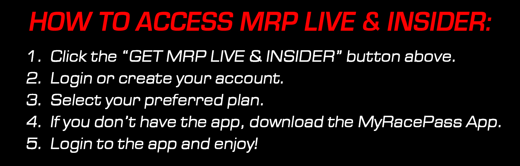 How To Access MRP Live and Insider